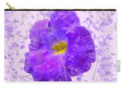 Purple Morning Glory With Pattern Carry-all Pouch