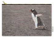 Quick Hurry - Gentoo Penguin By Alan M Hunt Carry-all Pouch by Alan M Hunt