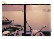 Rain Storm Ha Long Bay Boat People Homes Carry-all Pouch