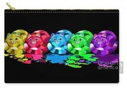 Rainbow Painted Cats Carry-all Pouch