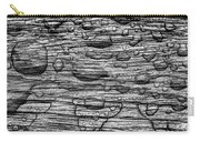 Raindrops On Wood, California, Usa Carry-all Pouch