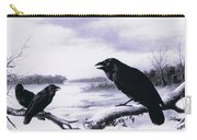 Ravens In Winter Carry-all Pouch