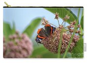 Red Admiral Butterfly On Milkweed Carry-all Pouch
