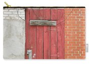 Red Alley Door Chinatown Washington Dc Carry-all Pouch by Edward Fielding