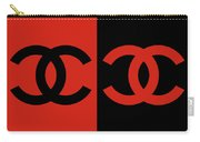 Red And Black Chanel Carry-all Pouch
