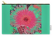 Red And Green Bloom Carry-all Pouch