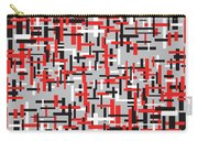 Red Black White Geometric Carry-all Pouch