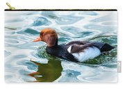 Red Crested Red Beak Red Eye Duck Carry-all Pouch
