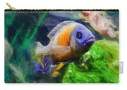 Red Fin Borleyi Cichlid Carry-all Pouch by Don Northup