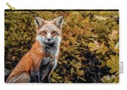 Red Fox In Fall Colors Carry-all Pouch