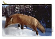 Red Fox Ontario Canada Carry-all Pouch by Rick Veldman