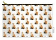 Red Fox Watercolor Pattern Carry-all Pouch