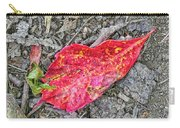 Red Leaf On Green's Hill Carry-all Pouch