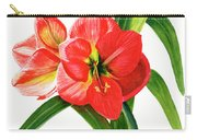 Red-orange Amaryllis Carry-all Pouch