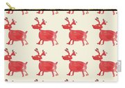 Red Reindeer Pattern Carry-all Pouch