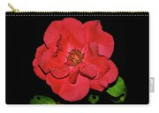 Red Rose With Dewdrops 038 Carry-all Pouch