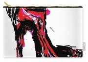 Red Shoe With High Heel Carry-all Pouch