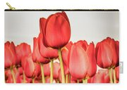 Red Tulip Field In Portrait Format. Carry-all Pouch