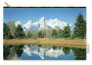 Reflection Of Mountains In Water, Grand Carry-all Pouch