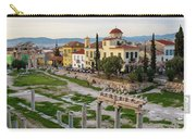 Remains Of The Roman Agora And Cityscape Of  Athens, Greece Carry-all Pouch