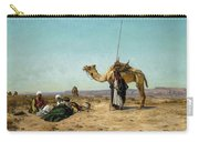 Rest In The Syrian Desert, 19th Century Carry-all Pouch