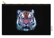 Retro 80s Tiger Face Splatter Paint Carry-all Pouch