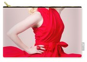 Retro Blond Pinup Woman Wearing A Red Dress Carry-all Pouch