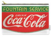 Retro Coke Sign Carry-all Pouch