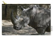 Rhino Standing In The Shade On A Summer Day Carry-all Pouch