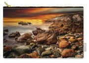 Rhoscolyn Coastline Sunset  Carry-all Pouch by Adrian Evans