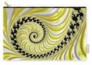 Ribbed Yellow Spiral Carry-all Pouch