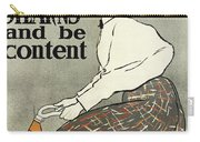 Ride A Stearns And Be Content, Circa 1896 Carry-all Pouch