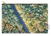 Road Through Colorful Autumn Forest Carry-all Pouch