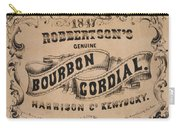 Robbertson's Kentucky Bourbon Cordial Ad C. 1857 Carry-all Pouch