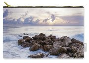 Rocky Beach At Sunset Carry-all Pouch by Brian Jannsen