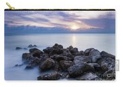 Rocky Beach At Sunset II Carry-all Pouch by Brian Jannsen