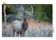 Rocky Mountain Wildlife Bull Elk Sunrise Carry-all Pouch by Nathan Bush