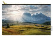 Rolling Hills Of Alpe Di Siusi Carry-all Pouch by Dmytro Korol