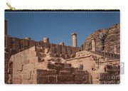 Roman Temple In Petra Carry-all Pouch by Mae Wertz