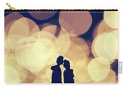 Romantic Couple Kissing On Illuminated Background. Carry-all Pouch