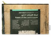 Room Of The Last Supper Carry-all Pouch
