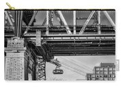 Roosevelt Tram Underneath The 59 St Bridge Bw Carry-all Pouch