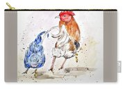 Rooster Butts Carry-all Pouch by Clyde J Kell
