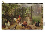 Rooster With Hens And Chicks Carry-all Pouch