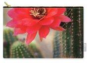 Rose Quartz Cactus Flower  Carry-all Pouch