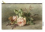Roses, 19th Century Carry-all Pouch