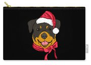 Rotweiler Xmas Hat Dog Pet Lover Christmas Carry-all Pouch