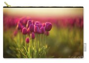 Rows Of Magenta Painterly Tulips Carry-all Pouch