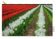 Rows Of White And Red Tulips Carry-all Pouch