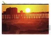 Ruby Sunset Oceanside Pier Carry-all Pouch